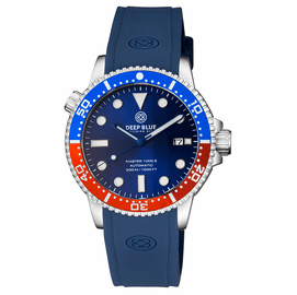 MASTER  1000 II  44MM  AUTOMATIC DIVER BLUE/RED CERAMIC BEZEL -DARK BLUE SUNRAY DIAL-BLUE HANDS