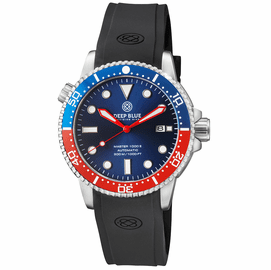 MASTER  1000 II  44MM  AUTOMATIC DIVER BLUE/RED CERAMIC BEZEL -DARK BLUE SUNRAY DIAL-RED HANDS