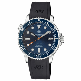 MASTER  1000 II  44MM  AUTOMATIC DIVER DARK BLUE CERAMIC BEZEL -DARK BLUE SUNRAY DIAL-ORANGE SECOND HAND