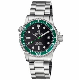MASTER  1000 II  44MM  AUTOMATIC DIVER GREEN CERAMIC BEZEL -BLACK GLOSSY DIAL
