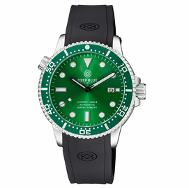 MASTER  1000 II  44MM  AUTOMATIC DIVER GREEN CERAMIC BEZEL -GREEN SUNRAY DIAL -BLACK HANDS