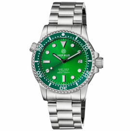 MASTER  1000 II  44MM  AUTOMATIC DIVER GREENCERAMIC BEZEL -GREEN SUNRAY DIAL -BLACK HANDS