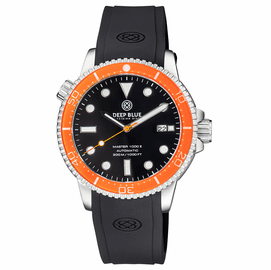 MASTER  1000 II  44MM  AUTOMATIC DIVER ORANGE CERAMIC BEZEL -BLACK GLOSSY DIAL