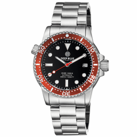 MASTER  1000 II  44MM  AUTOMATIC DIVER RED CERAMIC BEZEL -BLACK GLOSSY DIAL