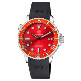 MASTER  1000 II  44MM  AUTOMATIC DIVER RED CERAMIC BEZEL -RED SUNRAY DIAL