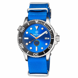 MASTER 1000 LIMITED EDITION FORCE BLUE AUTOMATIC DIVER BLACK BEZEL -BLUE DIAL-ORANGE SECOND  HAND