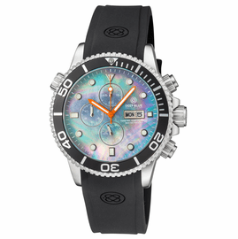MASTER 1000 QUARTZ CHRONOGRAPH  DIVER BLACK BEZEL – PLATINUM MOTHER OF PEARL DIAL