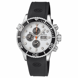MASTER 1000 QUARTZ CHRONOGRAPH  DIVER BLACK BEZEL – WHITE DIAL - BLACK SUBDIALS