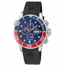 MASTER 1000 QUARTZ CHRONOGRAPH  DIVER BLUE/RED BEZEL – BLUE DIAL