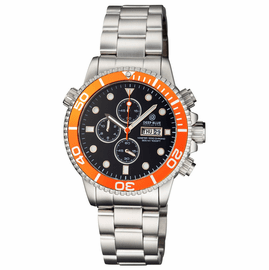 MASTER 1000 QUARTZ CHRONOGRAPH DIVER ORANGE BEZEL � BLACK DIAL BRACELET
