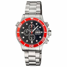 MASTER 1000 QUARTZ CHRONOGRAPH DIVER RED BEZEL – BLACK DIAL