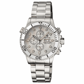 MASTER 1000 QUARTZ CHRONOGRAPH DIVER SILVER BEZEL – WHITE MOTHER OF PEARL DIAL BRACELET