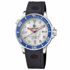 MASTER 1000 USA AUTOMATIC DIVER BLUE BEZEL -WHITE MOTHER OF PEARL DIAL