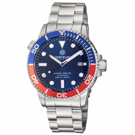 MASTER 1000 USA AUTOMATIC DIVER BLUE/RED BEZEL -BLUE DIAL BRACELET