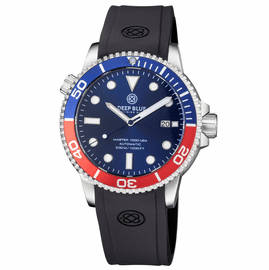 MASTER 1000 USA AUTOMATIC DIVER BLUE/RED BEZEL -BLUE DIAL