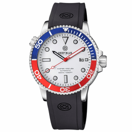 MASTER 1000 USA AUTOMATIC DIVER BLUE/RED BEZEL -WHITE DIAL