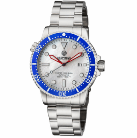 MASTER 1000 USA AUTOMATIC DIVER CERAMIC BLUE BEZEL -WHITE MOTHER OF PEARL DIAL BRACELET