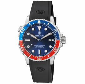 MASTER 1000 USA AUTOMATIC DIVER CERAMIC BLUE/RED BEZEL -BLUE DIAL