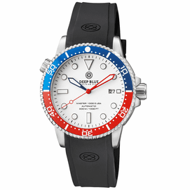 MASTER 1000 USA AUTOMATIC DIVER CERAMIC BLUE/RED BEZEL -WHITE DIAL