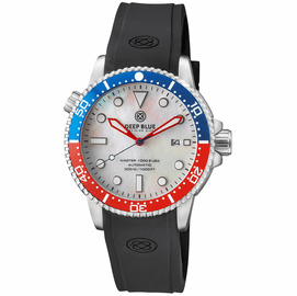 MASTER 1000 USA AUTOMATIC DIVER CERAMIC  BLUE/RED BEZEL -WHITE MOTHER OF PEARL DIAL