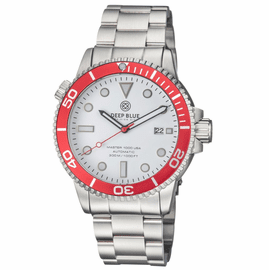 MASTER 1000 USA AUTOMATIC DIVER RED BEZEL -WHITE DIAL BRACELET