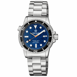 MASTER  1000M II 44MM  LIGHT BLUE METEORITE DIAL AUTOMATIC DIVER  BLACK CERAMIC BEZEL BRACELET