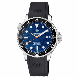 MASTER  1000M II 44MM  LIGHT BLUE METEORITE DIAL AUTOMATIC DIVER  BLACK CERAMIC BEZEL STRAP