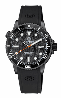 MASTER  1000M II 44MM  PVD CASE BLACK METEORITE DIAL AUTOMATIC DIVER  BLACK CERAMIC BEZEL STRAP