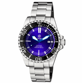 MASTER 2000 SWISS AUTOMATIC DIVER  BLACK � BLUE/PURPLE SUNRAY DIAL  � BLUE HANDS