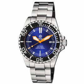 MASTER 2000 SWISS AUTOMATIC DIVER  BLACK � BLUE/PURPLE SUNRAY DIAL  � ORANGE HANDS