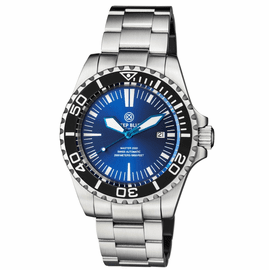 MASTER 2000 SWISS AUTOMATIC DIVER  BLACK � BLUE SUNRAY DIAL  � BLUE HANDS