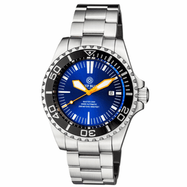 MASTER 2000 SWISS AUTOMATIC DIVER  BLACK � BLUE SUNRAY DIAL  � ORANGE HANDS