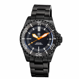 MASTER 2000 SWISS AUTOMATIC DIVER �BLACK-ORANGE-PVD BLACK CASE