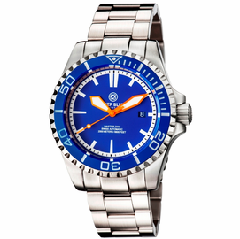 MASTER 2000 SWISS AUTOMATIC DIVER  BLUE-BLUE-ORANGE