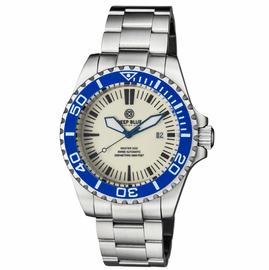 MASTER 2000 SWISS AUTOMATIC DIVER  BLUE/WHITE BEZEL  - FULL LUME WHITE DIAL