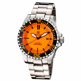 MASTER 2000 SWISS AUTOMATIC DIVER �ORANGE-BLACK-FULL LUMINOUS DIAL