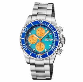 MASTER CHRONO 7750 AUTOMATIC DIVER BLUE LUME DIAL ORANGE SUBDIALS