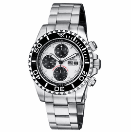 MASTER CHRONO 7750  AUTOMATIC DIVER   WHITE BLACK SUBDIALS