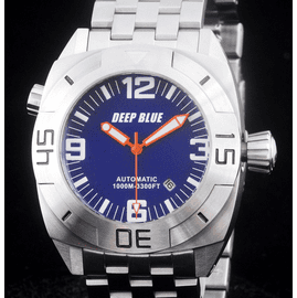 MASTER DIVER 1000m STEEL BRACELET BLUE ORANGE  HANDS