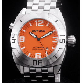 MASTER DIVER 1000m STEEL BRACELET ORANGE  BLACK  HANDS