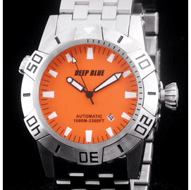 MASTER EXPLORER  1000m STEEL  ORANGE BLACK HANDS