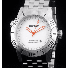 MASTER EXPLORER 1000m STEEL WHITE  ORANGE HANDS
