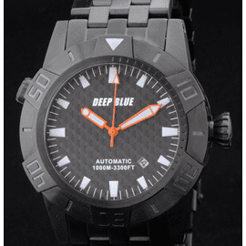 MASTER EXPLORER PVD 1000m Black Orange Hands -