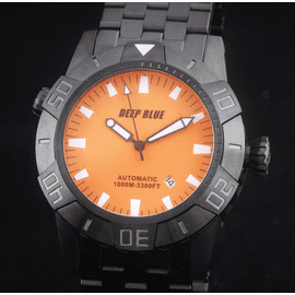 MASTER EXPLORER PVD 1000m Orange Black Hands