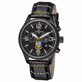 Mens US NAVY BLUE ANGELS PVD  Chronograph Watch FREE BRACELET AND SILICON STRAP