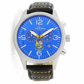 Mens US NAVY BLUE ANGELS SS Chronograph Watch -