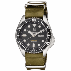 MILITARY DIVER 300 COLLECTION- BLACK DIAL OLIVE DRAB STRAP
