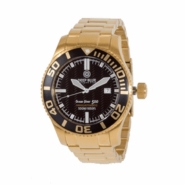 OCEAN DIVER 500 IP GOLD - Black Dial/ White  Hands