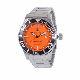OCEAN DIVER 500- Orange Dial/ Black  Hands