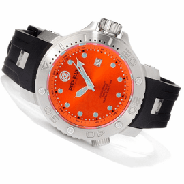 Orange Juggernaut Quartz 1000m Diver Silicon